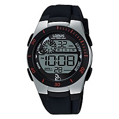 Lorus - Children's soft black silicone digital watch r2375kx9