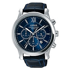 Lorus - Men's blue chronograph strap watch
