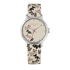 Radley - Ladies cream 'Fleet Street' leather watch ry2367