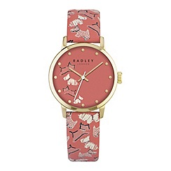Radley - Ladies papaya 'Fleet Street' leather watch