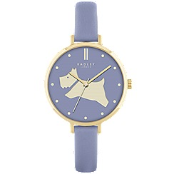 Radley - Ladies chambray 'Go Walkies' leather watch