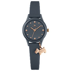 Radley - Ladies shingle rose gold 'Watch It!' silicone watch