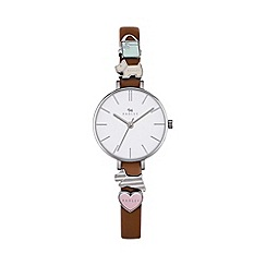 Radley - Ladies tan 'Time After Time'  charm watch ry2379