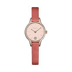 Radley - Ladies peach 'Long Acre' leather watch