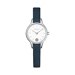 Radley - Ladies navy 'Long Acre' leather watch