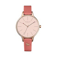 Radley - Ladies peach 'Millbank' leather watch ry2388