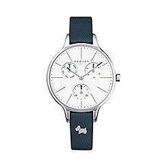 Radley - Ladies navy 'Soho' leather multi-dial watch
