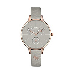 Radley - Ladies grey 'Soho' leather multi-dial watch