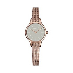 Radley - Ladies  pink and rose gold 'Millbank' mesh watch ry4250