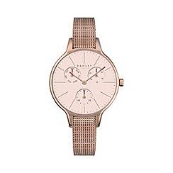 Radley - Ladies rose gold 'Soho' mesh multi-dial watch