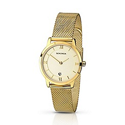Sekonda - Ladies gold mesh bracelet watch