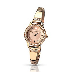 Sekonda - Ladies rose gold stone set watch