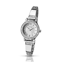 Sekonda - Ladies chrome stone set watch