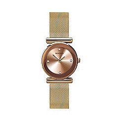 Sekonda - Ladies rose gold mesh sunray watch