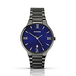 Sekonda - Men's gunmetal blue watch 1140.28