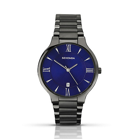 Sekonda - Men+s gunmetal blue watch 1140.28