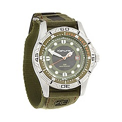 Kahuna - Men's olive canvas strapped watch k5v-0003g