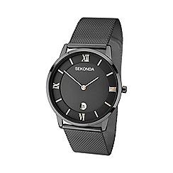 Sekonda - Men's black gunmetal mesh bracelet watch