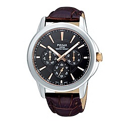Pulsar - Men's dark brown watch
