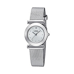 Lorus - Ladies silver mesh strap bracelet watch