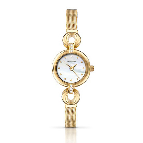Sekonda - Ladies gold circle bracelet watch