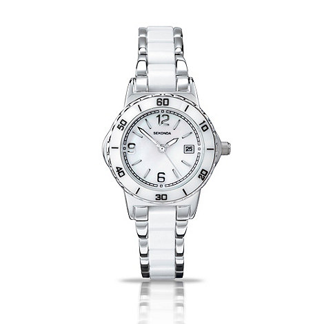 Sekonda - Ladies white sports watch