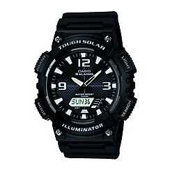 Casio - Men's black round dial watch