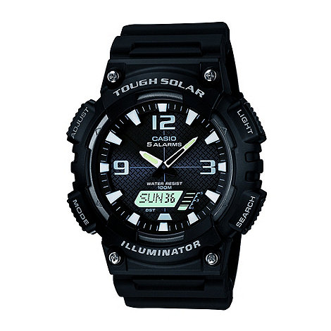 G-shock - Men+s black round dial watch