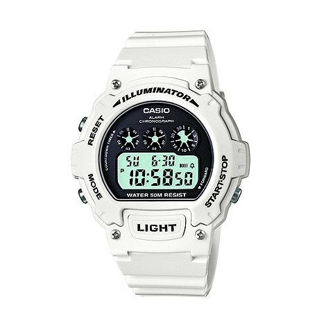 Casio - Men+s white digital dial watch
