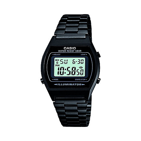 Casio - Unisex black digital dial watch