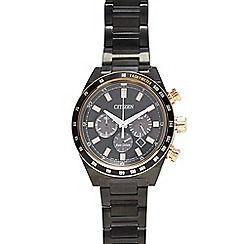 Citizen - Men's black sport chronograph watch ca4207-53h