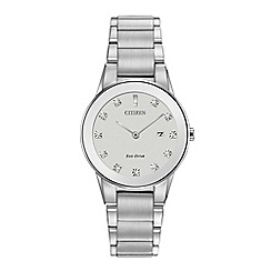 Citizen - Ladies silver 'eco-drive' analog bracelet watch