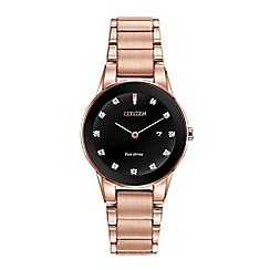 Citizen - Ladies rose gold 'Axiom' watch