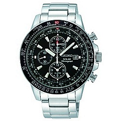 Seiko - Men's silver chronograph watch