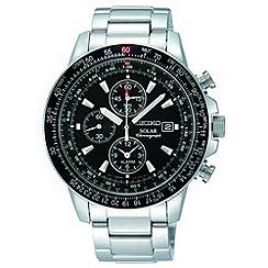 Seiko - Men's silver chronograph watch