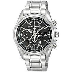 Seiko - Men's silver chronograph dial bracelet watch