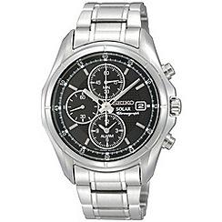 Seiko - Men's silver chronograph dial bracelet watch