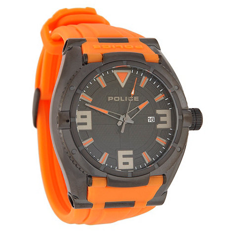 Police - Men+s orange strap watch
