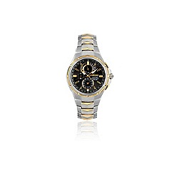 Seiko - Men's two tone solar perpetual calendar watch ssc376p9