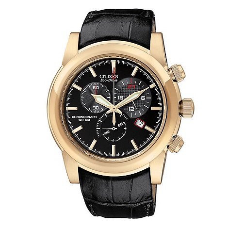 Citizen - Men+s black sports watch