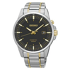 Seiko - Men's two tone kinetic bracelet watch