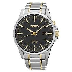 Seiko - Men's two tone kinetic bracelet watch