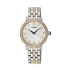 Seiko - Ladies two tone quartz bracelet watch sfq810p1