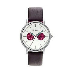 Ted Baker - Men's brown leather strap watch te10024788
