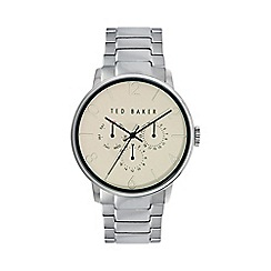 Ted Baker - Men's cream dial stainless steel bracelet watch