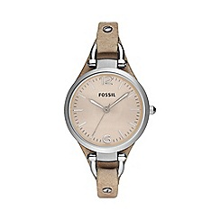 Fossil - Ladies ivory dial watch