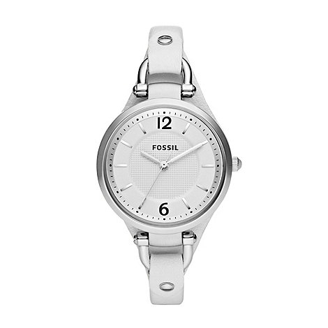 Fossil - Ladies white dial watch