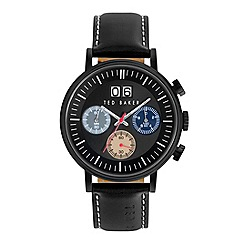 Ted Baker - Men's black leather strap watch