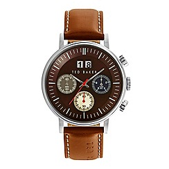 Ted Baker - Men's multi colour dial brown leather watch