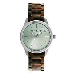Ted Baker - Ladies mint green tortoiseshell bracelet watch